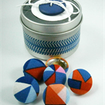 Geometric Material Covered Thumb Tacks