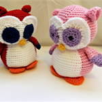 Crochet Owl in Custom Colour/s, Made to Order, Softie