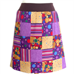 Women's A-Line Patchwork Skirt Size XLarge