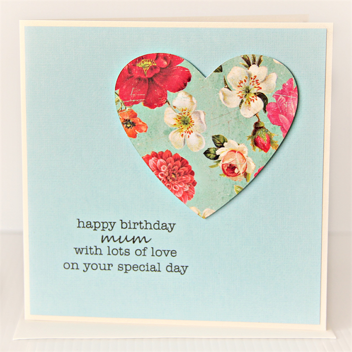 Mum Birthday Card For Her Vintage Floral Heart Happy Birthday Ma