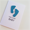 Newborn hello sweet baby   with lush sparkly blue boy glitter baby feet card