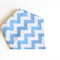 Adjustable Bandana Bib || Chevron Blue