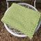 Green crochet blanket 100% wool size 95cm x 60cm
