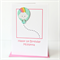 1st birthday personalised card happy birthday rainbow and cloud