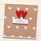 happy anniversary card handmade kraft white hearts