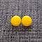 Yellow Glass Studs
