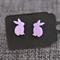 Pale Purple Easter Rabbits~Laser Cut Acrylic Stud Earrings