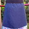 Blue Skirt with Purple Daisies & Bamboo Stretch Waist