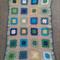 Granny Square crochet blanket 95 x 60 cm Cotton blend