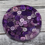 Purple Buttons Drink coaster / paperweight - SINGLE - Resin