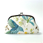 Double coin purse / Woodland/ two compartments purse/ floral