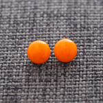 Orange Glass Studs