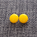 Yellow Glass Studs
