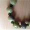 Green Jade and moss agate necklace. Size: 45 cm.