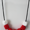 SiliBead Teething Necklace - Red and White