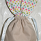 Set of 3 Bunny shaped Easter drawstring pouch bags