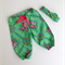 Gorgeous Emerald Beauty Queen Harem Pants with matching headband Baby Girl
