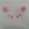 Cake Bunting/Cake Topper  with flowers