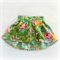 Tulip Wrap Skirt - Bright Green with pink, aqua & yellow flowers - size 2