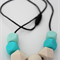 SiliBead Teething Necklace - Cream, Turquoise and Mint