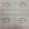 Gorgeous 145x145 square wedding invitation. Envelopes to match included.