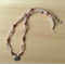 Necklace of Sardonyx Chalcedony, pearl and silver. Size: 46 cm.