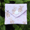 Bunny print mini discreet purse or coin bag . Ideal for coins ,tampons or condom