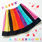 Size 2, 3 OR 5 Girls Rainbow Party Skirt, Bright & Beautiful, 100% Cotton