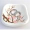 Pink cherry blossom porcelain ring dish. Ring pillow. Ring holder. Ceramic.