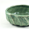 Ceramic Bowl Faceted Green Unique Handmade Pottery Home Décor Stoneware