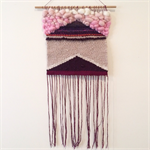 Hand woven wall hanging, tapestry, boho weaving - 'Margo'
