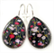 TEARDROP LEVER BACK EARRINGS- Blossoms