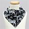 Black & White Zebra Bandana Dribble Bib
