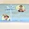 Baby/Swaddle Blanket - Pinocchio, blue & white spot