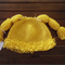 Crochet cabbage patch beanie/hat Size 1-2 years or a 3-6 month old available.