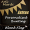 """EXTRA BLANK FLAG"" for Personalised Boy or Girl Bunting by Arti Mardi"