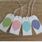 FREE SHIPPING Balloon Gift Tags - Set of 4 - Pastel green, pink, blue, mauve
