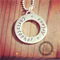 Love Is All Around. Sterling Silver Hand Stamped pendant/ Jewellery/ Necklace/
