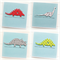 4 dinosaur BIRTHDAY cards happy birthday children