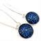 DANGLE EARRINGS- blue