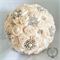 MADE TO ORDER Bridal/Wedding Bouquet Satin Roses & Brooches Handmade Vintage