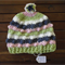 Crochet bobble stitch beanie/hat Size 1-2 year old.