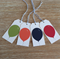 FREE SHIPPING Balloon Gift Tags - Set of 4 - Navy, Red, Green, Orange