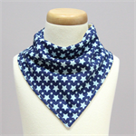 Navy & Blue Star Bandana Dribble Bib