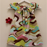 * SALE * RETRO LOOK girls DRESS with BOW