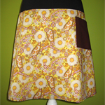 Skirt with 70s Flowers &  Paisley & Bamboo Stretch Waist