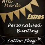 """""""EXTRA LETTER FLAG"""" for Personalised Boy or Girl Bunting by Arti Mardi"""