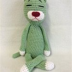 Crochet Cat - green