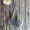 Green Jade Faceted Gemstone & Tibetan Bead Earrings