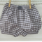 Gingham bloomers - unisex, grey and white gingham, baby gifts